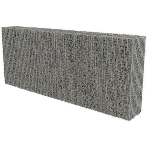 Mur en gabion avec couvercles Acier galvanisé 300 x 50 x 150 cm