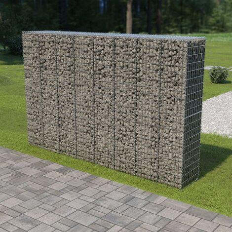 Mur en gabion avec couvercles Acier galvanisé 300 x 50 x 200 cm