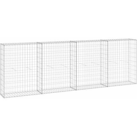 Mur en gabion avec couvercles Acier galvanisé 300x30x100 cm