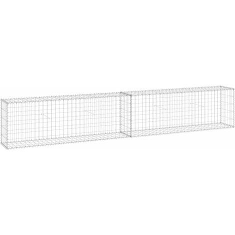Mur en gabion avec couvercles Acier galvanisé 300x30x50 cm