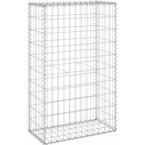 Mur en gabion avec couvercles Acier galvanisé 60x30x100 cm