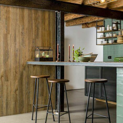Mur Lambris vinyle imitation Bois de Grange - 15 planches - 2,09m²