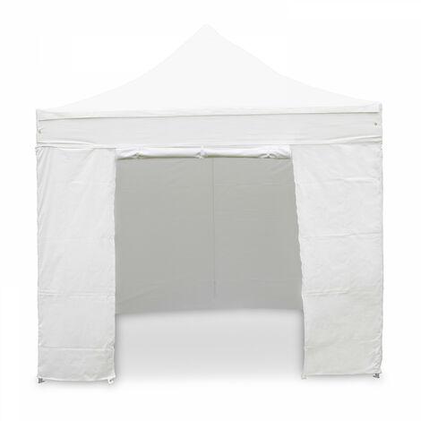 Mur porte zippable pour tente pliante PRO+ 50MM en 3m blanc