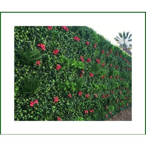 Mur vegetal artificiel bougainvilliers 5m2 MGS