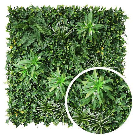 MUR Végétal artificiel EXOTIC 1m x 1m Haut de Gamme MUR EXTÉRIEUR / INTÉRIEUR Nouveautés - VERT