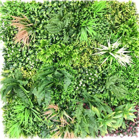 MUR Végétal Artificiel Liane 1m x 1m Haut de Gamme MUR Intérieur / Extérieur Nouveautés - VERT