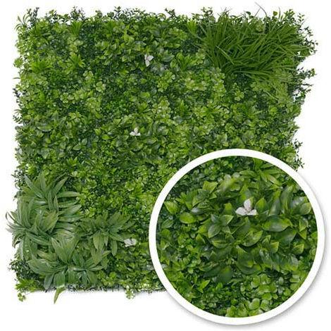 Mur végétal artificiel Liseron 1m x 1m
