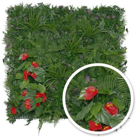 Mur végétal artificiel Tropical 1 m² - Jardideco