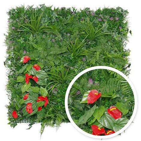 Mur végétal artificiel Tropical 1m x 1m
