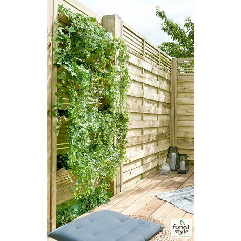 Mur végétal EDEN en bois/potager Vertical -séparation-cloture végétale 90x180CM - Géotextile inclus
