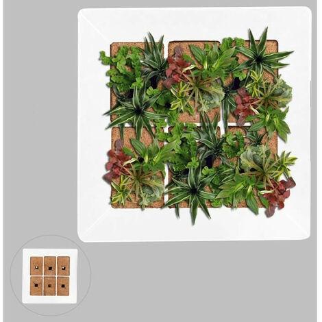 Mur végétal en métal 37x37cm - Blanc Generique