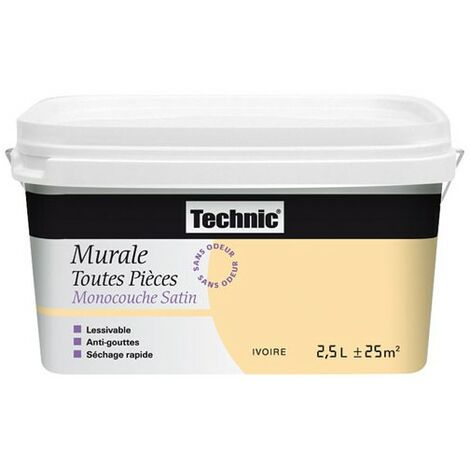 MURALE MONOCOUCHE SATIN 2.5L IVOIRE
