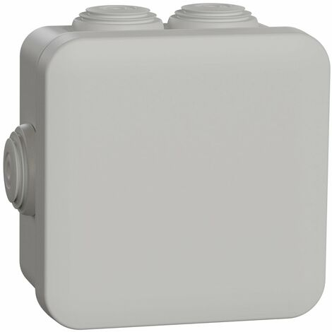 "main image of ""Boîte de dérivation Mureva Box IP55 + embouts - 80x80x45mm - Gris - Schneider Electric"""