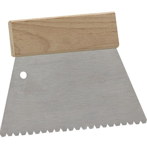 MUREXIN Spatola Dentata B3, 200mm, Cazzuola da Muratore con Manico in legno, 27958