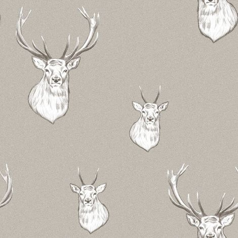 Muriva Catherine Lansfield Stag Mushroom Wallpaper