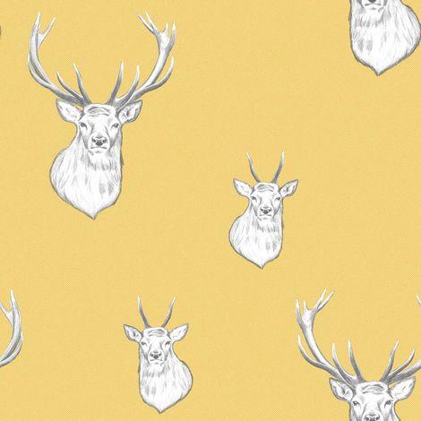 Muriva Catherine Lansfield Stag Ochre Wallpaper