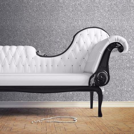 "main image of ""Muriva Wallpaper Sparkle Silver 701352"""