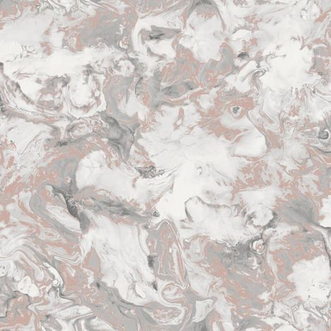 Muriva Elixir Marble Rose Gold/ Silver Metallic Wallpaper