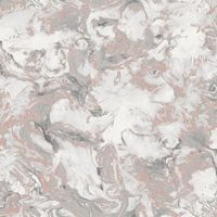Muriva Elixir Marble Rose Gold/ Silver Metallic Wallpaper