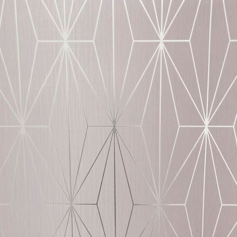 Muriva Kayla Blush/ Silver Wallpaper