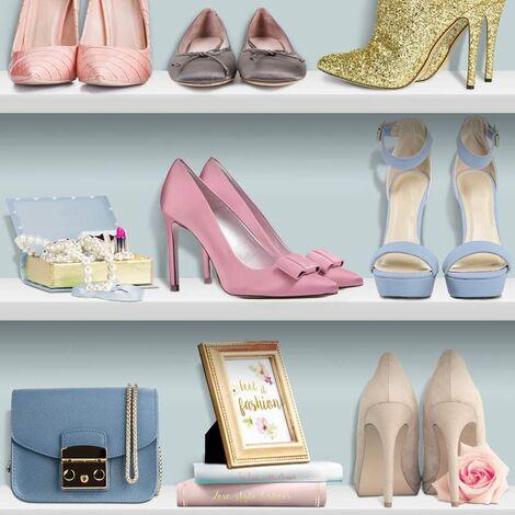 Muriva L31601 Ladies Heels Wallpaper, Multi-Colour, Set of 12 Pieces