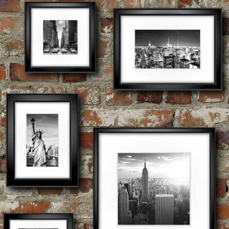 Muriva Ltd 102532 12 Rolls Novelties New York in Frames Wallpaper, Medium, Set of 12 Pieces
