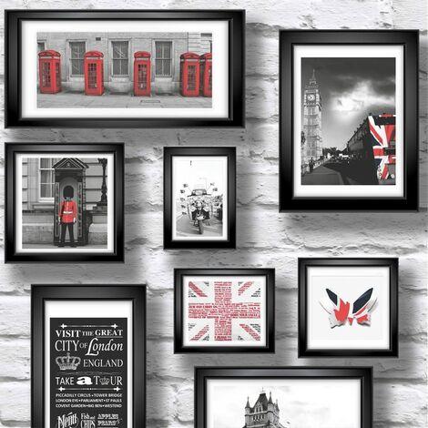 Muriva Ltd 102533 12 Rolls Novelties Britain in Frames Wallpaper, Medium, Set of 12 Pieces
