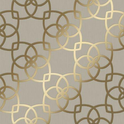 Muriva Marrakesh Geo Gold/ Champagne Metallic Wallpaper