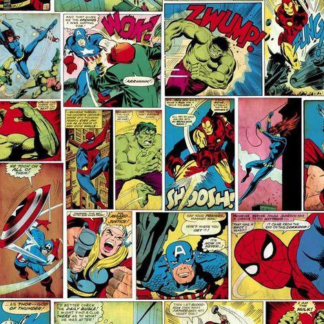 Muriva Marvel Comic Strip Multi Wallpaper