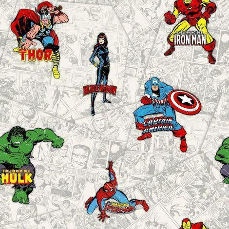 Muriva Marvel Heroes Multi Wallpaper