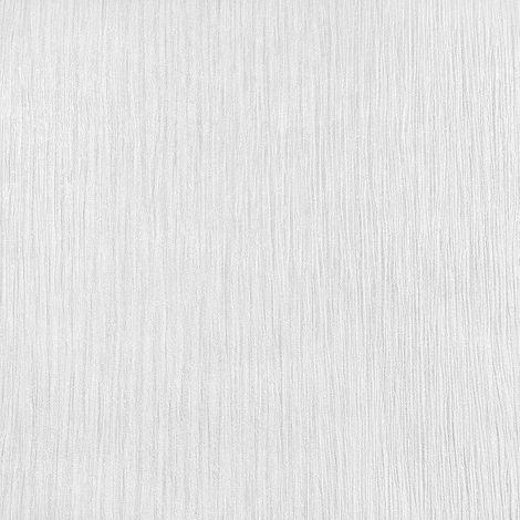 Muriva Texture Lustre White Wallpaper Pearlescent Linear Plain Shiny Finish