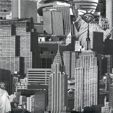 Muriva Wallcoverings New York Black and White 102503