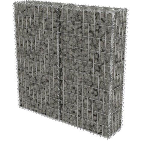 Muro de gaviones con cubiertas acero galvanizado 100x20x100 cm