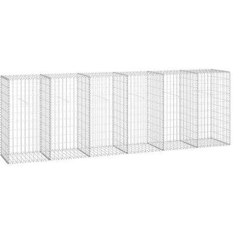 Muro de gaviones con cubiertas acero galvanizado 300x50x100 cm