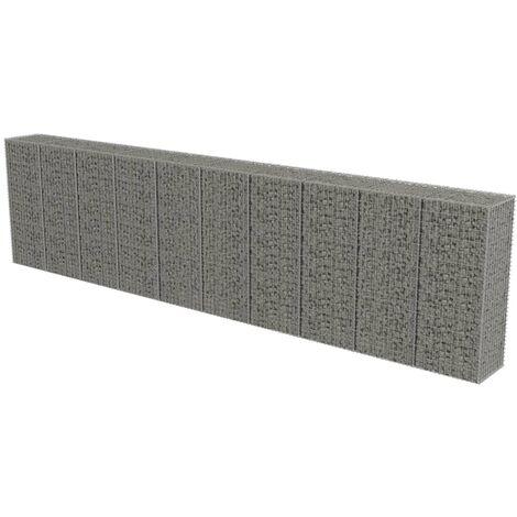 Muro de gaviones con cubiertas acero galvanizado 600x50x150 cm