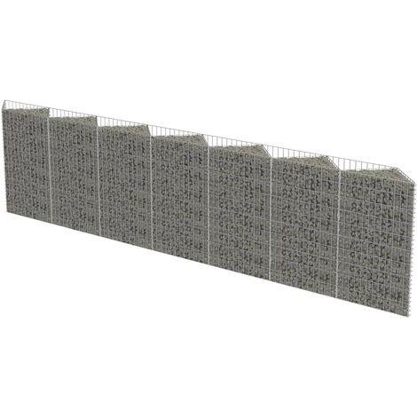 Muro de gaviones de acero 450x30x100 cm