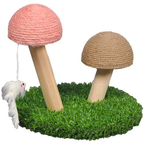 """main image of """"Mushroom Cat Scratcher Cat Scratching Post Small Cat Tree House Traning Toys for Kittens Pet Cat Interactive Toys,model:Brown"""""""