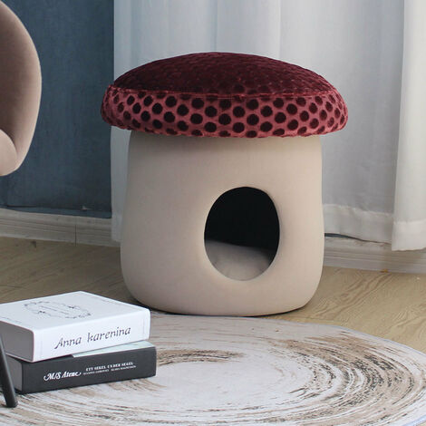 Mushroom Pet Bed Cat Kitten Puppy Sleeping Ottoman Condo/Tent/Sofa
