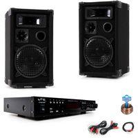 Musikanlage mit PA Boxen und Bluetooth Verstärker DJ-Compact 7
