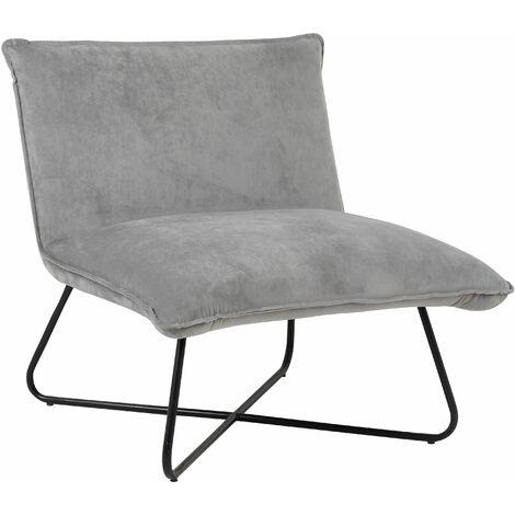 Mustard Velvet Pillow Upholstered Luca Lounge Chair, W73xD74xH72 cm - Mustard