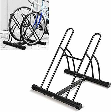 MVPOWER Râtelier Familial Pancher de Vélo Mur pour 2 Vélos Rack Stockage Verrouillage Support Garage