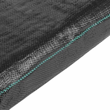 MVPOWER Toile Anti-Mauvaises Herbes 2x10m, Bache Anti Mauvaises Herbes Anti-UV 100g/m2, Géotextile Gravier, Tissu Perméable Résistant à la Déchirure