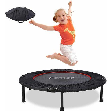 MVPower Trampoline Fitness,Pliable,Poignée 3/5 Hauteurs Réglables, Capacité de Charge 150 kg, Ø102cm, pour Intérieur, Jardin,Adulte et Enfant