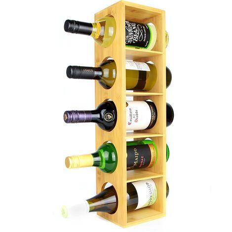 M&W Bamboo Wall Mounted Wine Rack