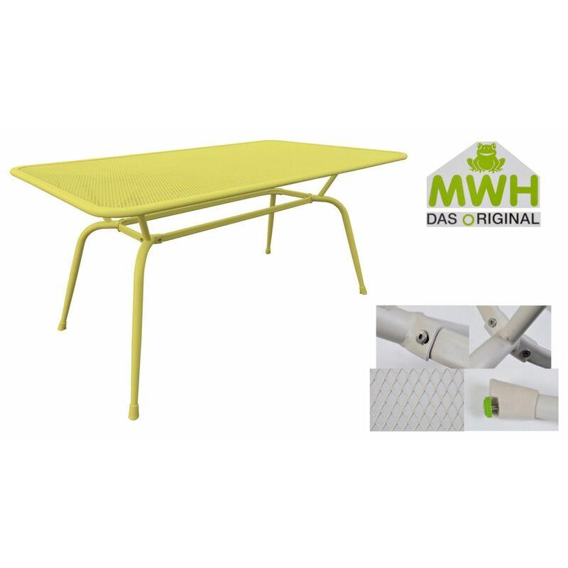 Tisch Conello 160x90x74cm gelb Streckmetalltisch Gartentisch Tisch Möbel - MWH