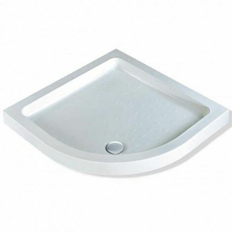 "main image of ""MX Classic Deep Quadrant Shower Tray 800 White Durable Resin Waste Bathroom"""