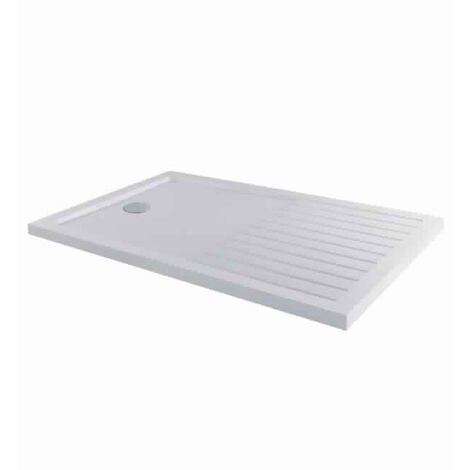 MX Elements Rectangular Walk-In Shower Tray with Waste 1400mm x 900mm - White