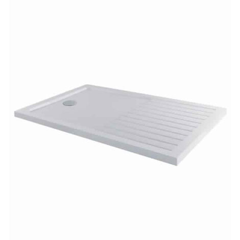 MX Elements Rectangular Walk-In Shower Tray with Waste 1700mm x 800mm - White