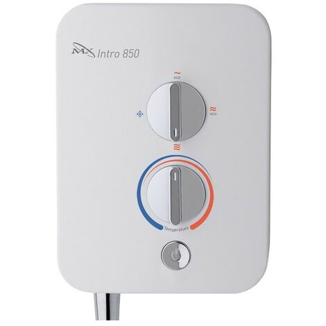 MX Intro 850 8.5kW Electric Shower - White & Chrome
