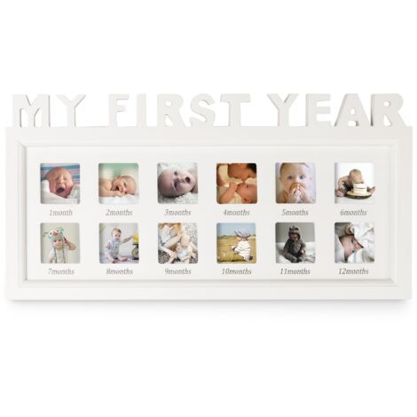 My First Year Baby Photo Frame | M&W